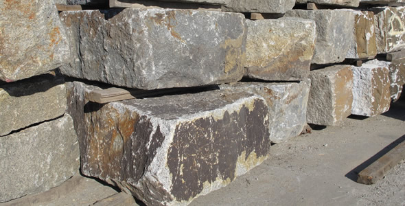 Granite Stone Foundation : Reclaimed granite blocks olde new england