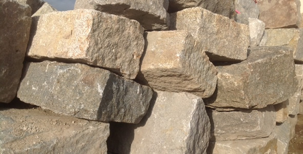 Granite Block Seawall : Reclaimed granite blocks from new england olde